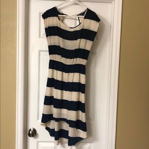 Navy and Cream Striped Dress | Red Dress Boutique